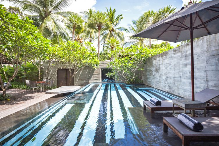 One Bedroom Private Pool Villa - Pool from Lounger Shorter Day time